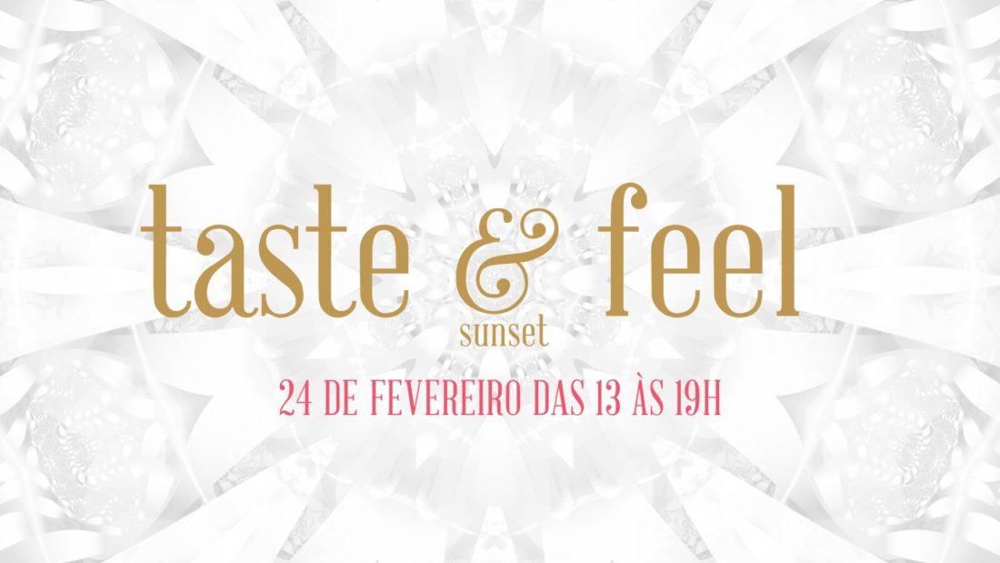 Banner de site com informações sobre o sunset, Taste and Feel.