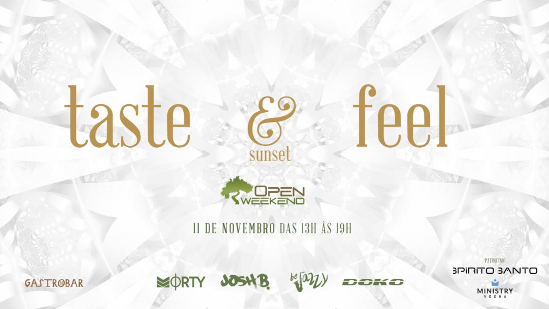 No banner de site, o evento Taste and Feel Sunset, edição especial da Open Weekend, do Gastrobar.