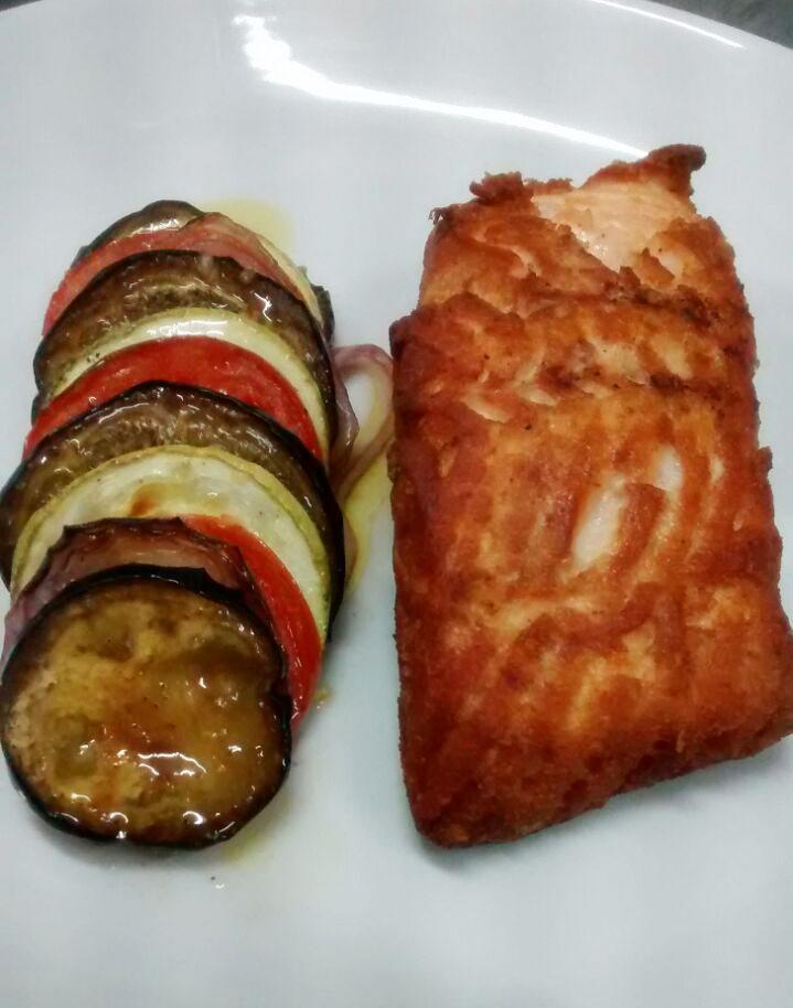 Na imagem, o prato Ratatouille, do Menu Executivo do Baco, servido durante o almoço.