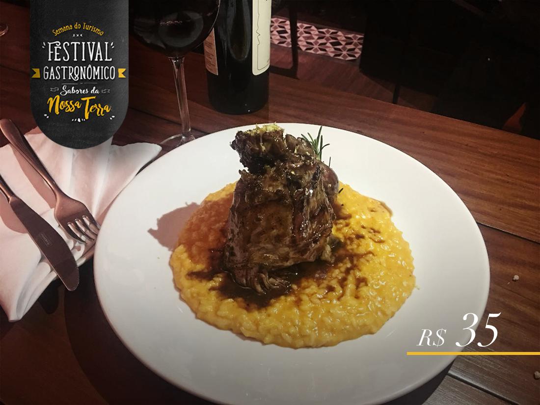 Na imagem, o prato do Baco para o Festival Gastronômico de Maringá.